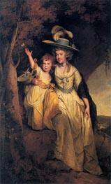Portrait of Susannah Hurt with her daughter Mary Anne, c.1789/90 von Wright of Derby | Gemälde-Reproduktion