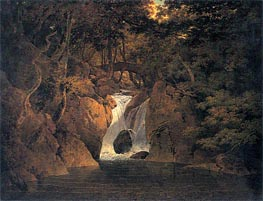 Rydal Waterfall, 1795 by Wright of Derby | Painting Reproduction