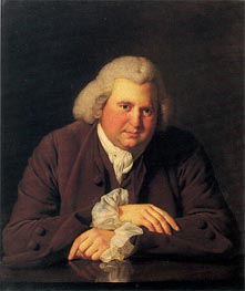 Portrait of Erasmus Darwin, c.1770 by Wright of Derby | Painting Reproduction