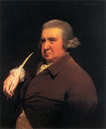 Portrait of Erasmus Darwin, c.1792/93 by Wright of Derby | Painting Reproduction