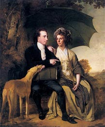 Portrait of Rev. Thomas Gisborne and his Wife Mary, 1786 by Wright of Derby | Painting Reproduction