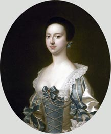 Portrait of Anne Bateman later Mrs John Gisborne, 1755 by Wright of Derby | Painting Reproduction