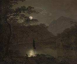 A Lake by Moonlight | Wright of Derby | Painting Reproduction