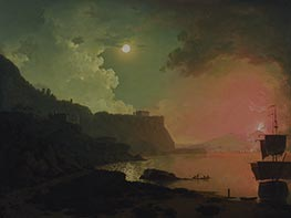 Vesuvius from Posillipo, c.1788 von Wright of Derby | Gemälde-Reproduktion