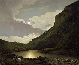 Matlock Tor by Moonlight | Wright of Derby | Painting Reproduction