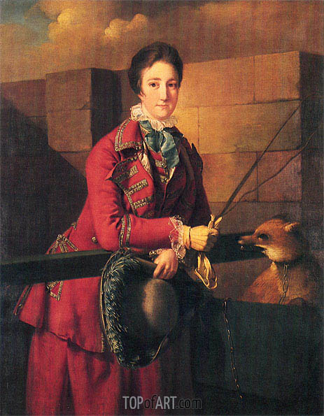 Portrait of Mrs Wilmot in Riding Dress, c.1762/63   Wright of Derby   Gemälde Reproduktion