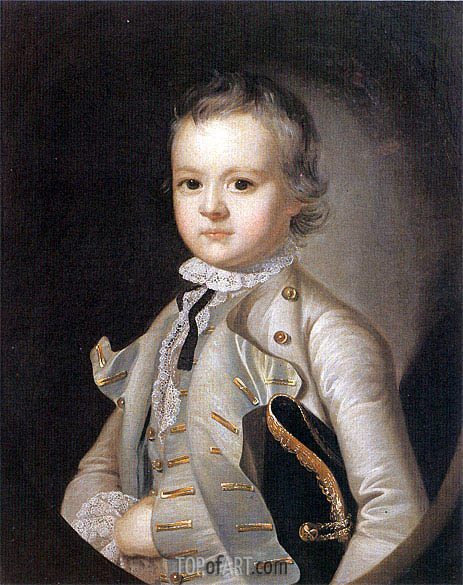 Portrait of Harvey Wilmot, c.1760 | Wright of Derby | Painting Reproduction