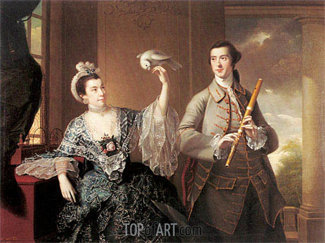 Portrait of Mr and Mrs William Chase, 1760 | Wright of Derby | Painting Reproduction