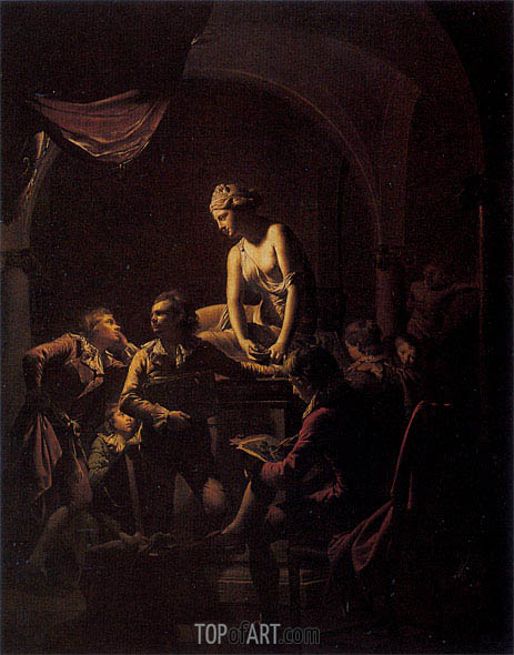 An Academy by Lamplight, 1769 | Wright of Derby | Painting Reproduction