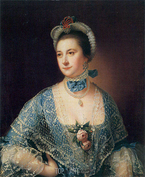 Portrait of Mrs Andrew Lindington, c.1761/62 | Wright of Derby | Painting Reproduction