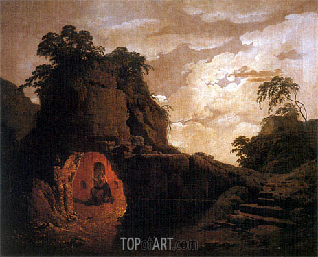 Virgil's Tomb with the Figure of Silius Italicus, 1779   Wright of Derby   Gemälde Reproduktion