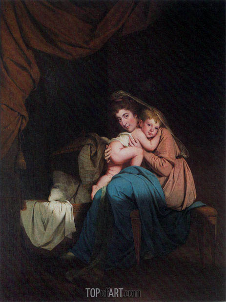 Lady Wilmot and her Child, 1788 | Wright of Derby | Gemälde Reproduktion