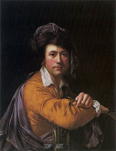 Self Portrait at the Age of about Forty, c.1772/73 | Wright of Derby | Gemälde Reproduktion