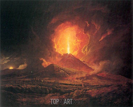 An Eruption of Vesuvius seen from Portici, c.1774/76   Wright of Derby   Gemälde Reproduktion