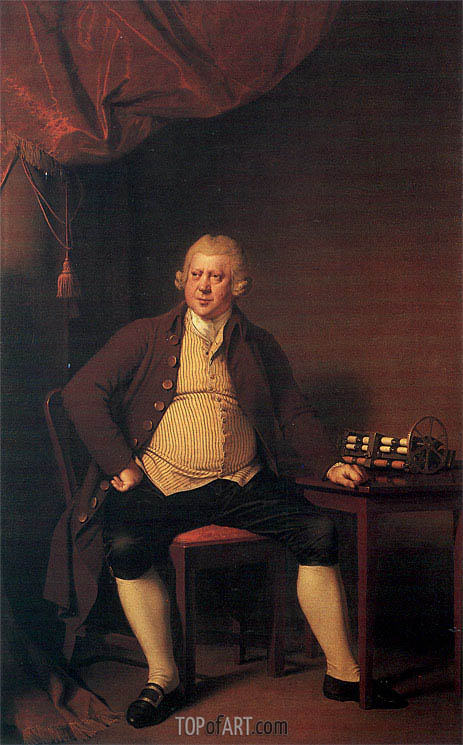 Portrait of Sir Richard Arkwright, c.1789/90 | Wright of Derby | Gemälde Reproduktion