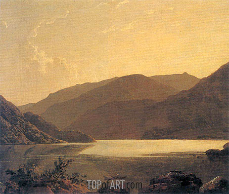 Ullswater, c.1795 | Wright of Derby | Painting Reproduction