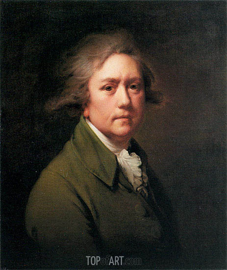 Self Portrait at the Age of about Fifty, c.1782/85 | Wright of Derby | Painting Reproduction