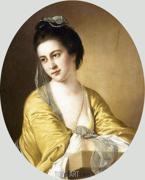 Portrait of Miss Theodora Fortune, undated | Wright of Derby | Painting Reproduction