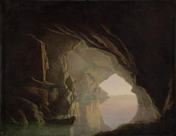A Grotto in the Gulf of Salerno, Sunset, c.1780/81 | Wright of Derby | Painting Reproduction