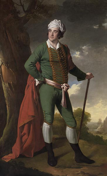 Portrait of a Man, Known as the Indian Captain, c.1767 | Wright of Derby | Painting Reproduction