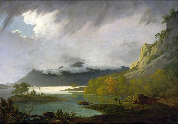 Derwent Water with Skiddaw in the Distance, c.1795/96 | Wright of Derby | Painting Reproduction