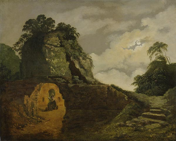 Virgil's Tomb by Moonlight, with Silius Italicus, 1779 | Wright of Derby | Painting Reproduction