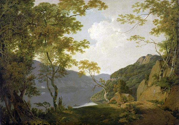 Lake Scene, 1790 | Wright of Derby | Painting Reproduction