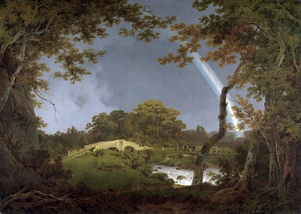 Landscape with a Rainbow, c.1793/94 | Wright of Derby | Painting Reproduction