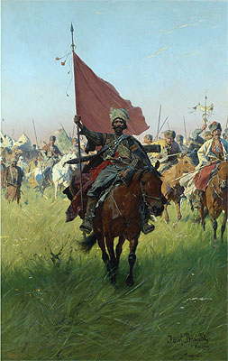 Song of the Cossack Victors, Undated | Jozef Brandt | Painting Reproduction