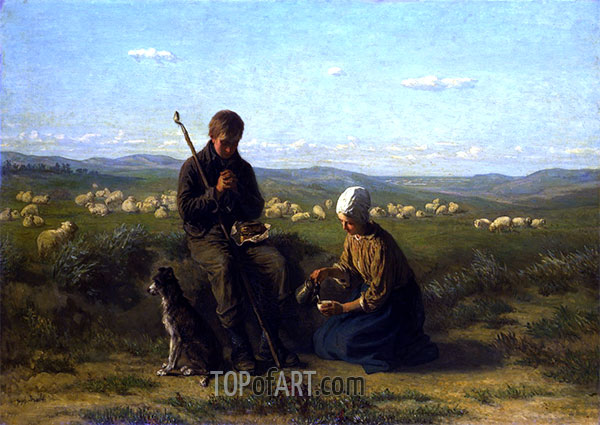 The Shepherd's Prayer, 1864 | Jozef Israels | Painting Reproduction