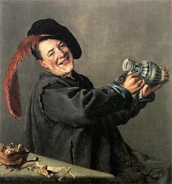 The Jolly Toper, 1629 von Judith Leyster | Gemälde-Reproduktion