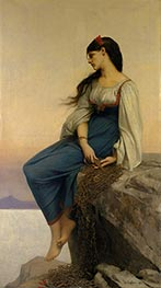 Graziella, 1878 by Jules Joseph Lefebvre | Painting Reproduction