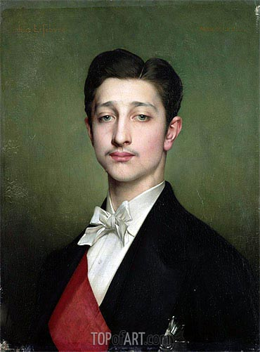Portrait of Eugene-Louis-Napoleon Bonaparte, 1874 | Jules Joseph Lefebvre | Painting Reproduction