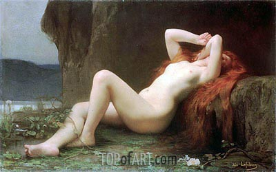Mary Magdalene in the Cave, 1876 | Jules Joseph Lefebvre | Painting Reproduction
