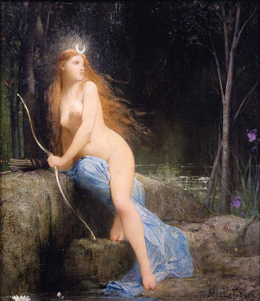 Diana, 1879 | Jules Joseph Lefebvre | Painting Reproduction