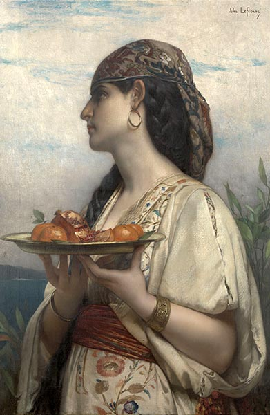 Slave Girl with a Fruit Bowl, 1874 | Jules Joseph Lefebvre | Painting Reproduction