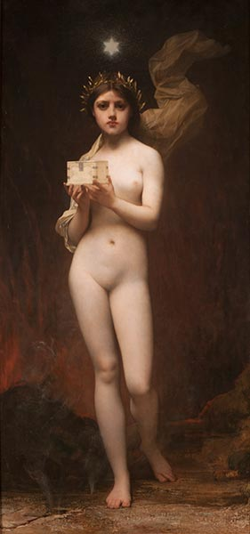 Pandora, 1872 | Jules Joseph Lefebvre | Painting Reproduction