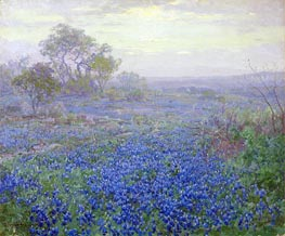 A Cloudy Day, Bluebonnets near San Antonio, Texas, 1918 by Julian Onderdonk | Painting Reproduction