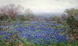 Field of Bluebonnets, undated by Julian Onderdonk | Painting Reproduction