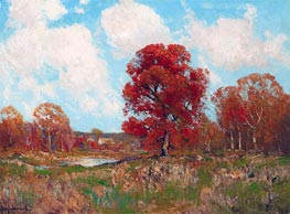 Fall Landscape, undated by Julian Onderdonk | Painting Reproduction
