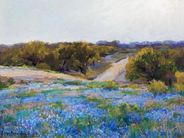 Bluebonnets at Late Afternoon, 1917 by Julian Onderdonk | Painting Reproduction