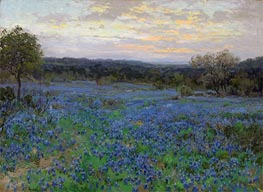 Field of Bluebonnets at Sunset | Julian Onderdonk | Painting Reproduction