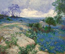 Texas Landscape with Bluebonnets, undated by Julian Onderdonk | Painting Reproduction