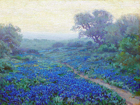Bluebonnets at Sunrise, 1917 | Julian Onderdonk | Painting Reproduction
