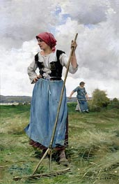 Turning the Hay, undated by Julien Dupre | Painting Reproduction