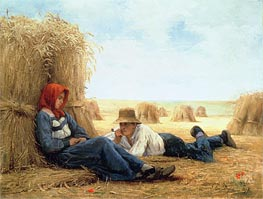 Harvest Time, 1878 by Julien Dupre | Painting Reproduction