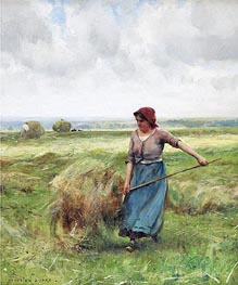 The Haymaker, Undated by Julien Dupre | Painting Reproduction