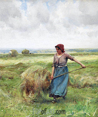 The Haymaker, Undated | Julien Dupre | Painting Reproduction