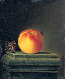 Still Life with Apple and Insects, 1765 von Justus Juncker | Gemälde-Reproduktion