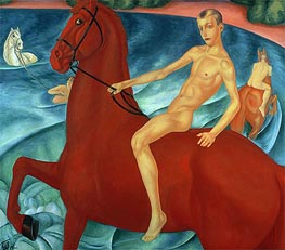 Bathing of the Red Horse, 1912 von Kuzma Petrov-Vodkin | Gemälde-Reproduktion